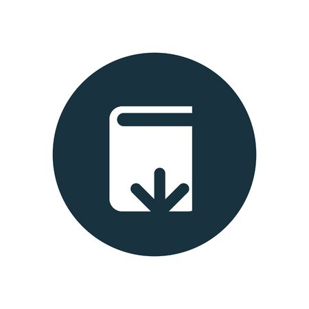 book download icon, round shape