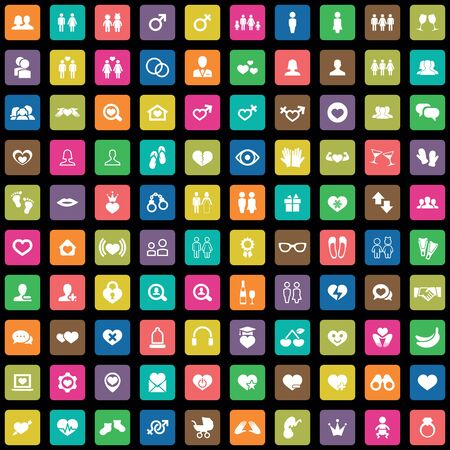 100 couple icons