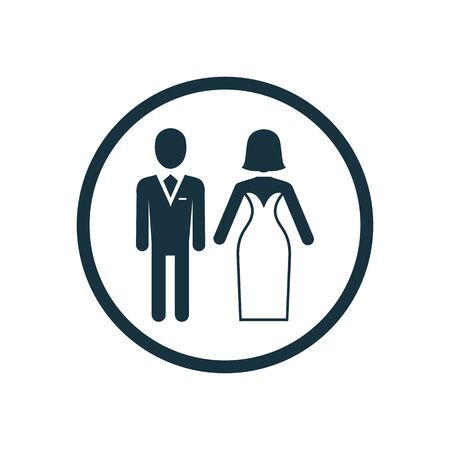 wedding icon on white background.