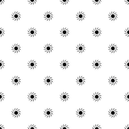 Vector seamless pattern, sun