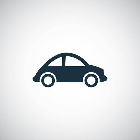 mini car icon on white background. Ilustración de vector