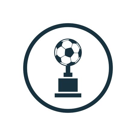 football cup icon on white background. Ilustrace