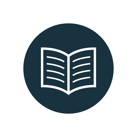 book icon, round shape