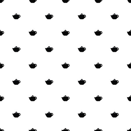 Vector seamless pattern, teapot
