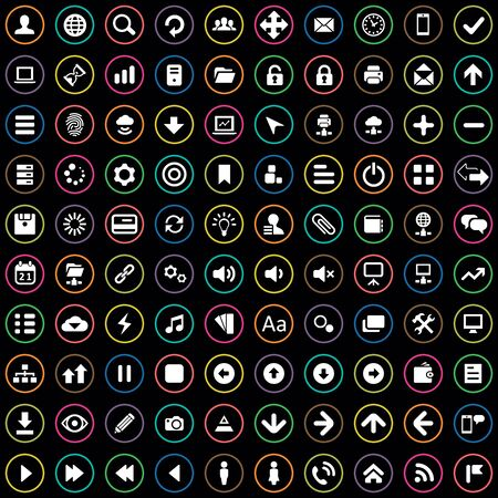 100 app icons Ilustracja