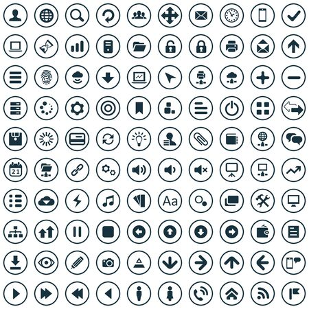 100 app icons. Vectores