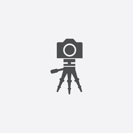 camera tripod icon 일러스트