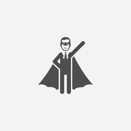 superhero icon Ilustração Vetorial