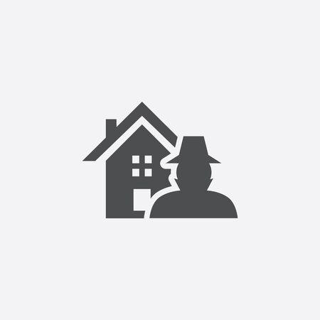 home thief insurance icon 스톡 콘텐츠 - 141178776