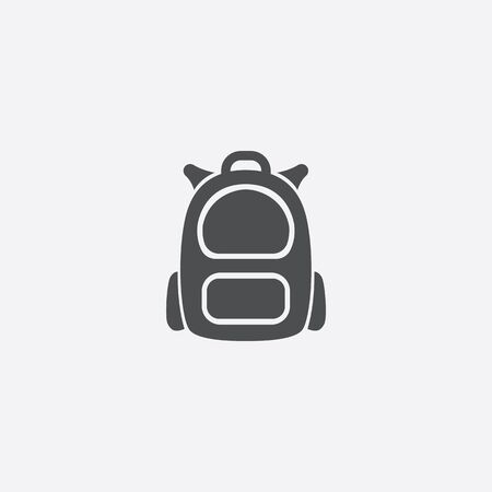 backpack icon on white background.