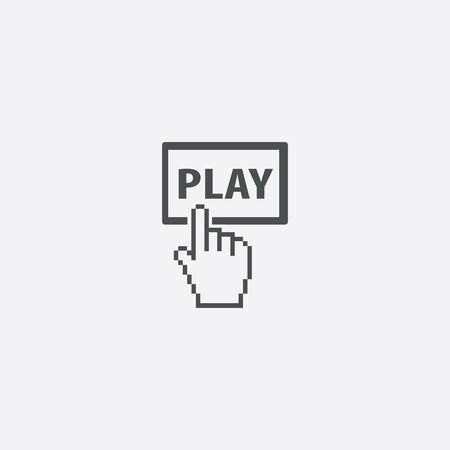 play button icon, on white background.