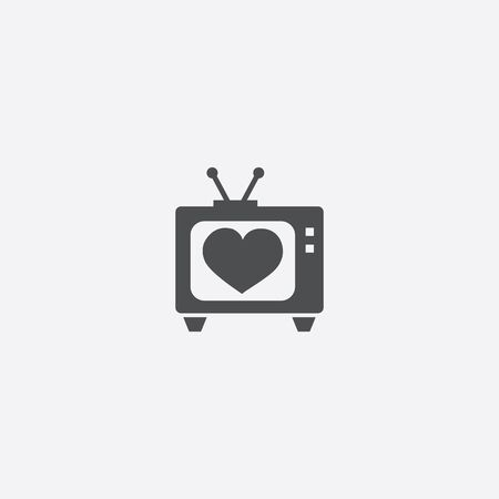heart tv icon illustration