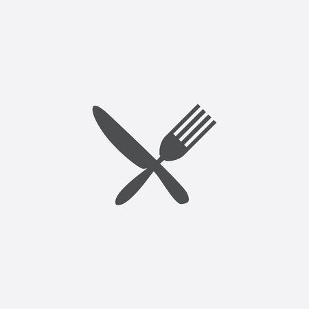 restaurant icon, isolated, white background Çizim