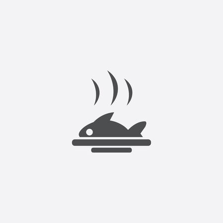 fish dish icon Vector Illustration