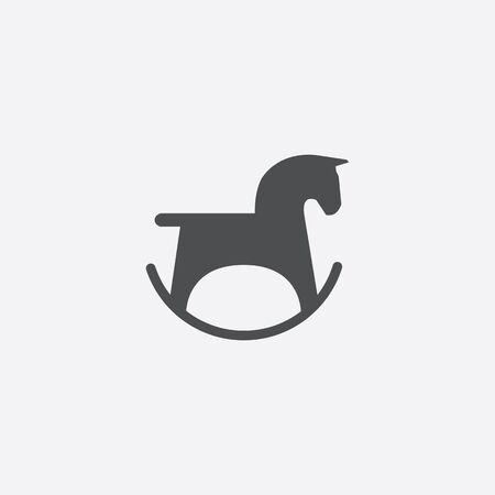 horse toy icon, isolated, white background