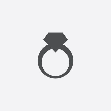 jewelery ring icon, isolated, white background