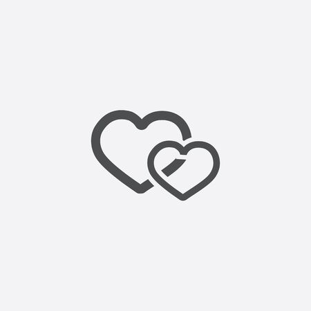 two hearts icon 向量圖像