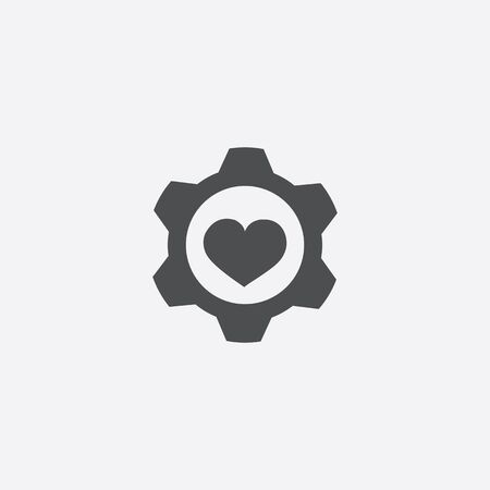 heart setting icon