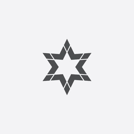 abstract star icon 向量圖像