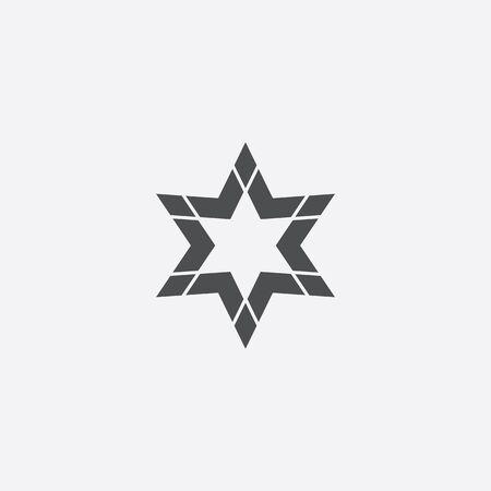 abstract star icon Illusztráció