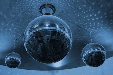 Disco Balls colorized in blue photo