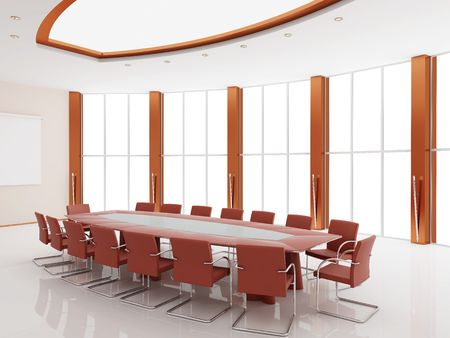 Interior of a conference of a hall Stock Photo