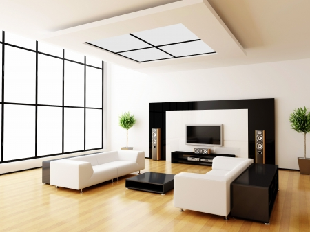 Modern interior of a room photo