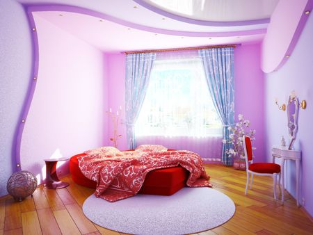 Inter of a bedroom for the girl Stock Photo - 7045262