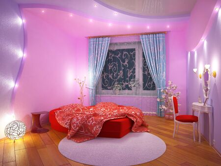 Interior of a bedroom for the girl Stock Photo - 7045261