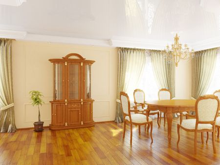 Interior of a dining room Фото со стока