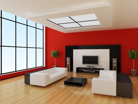Modern inter of a room Stock Photo - 7621304