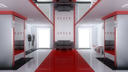 shop interior: Interior of a modern boutique