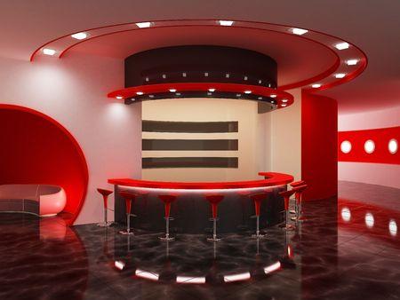 Interior of a modern bar Stock Photo - 7690273