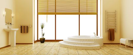 sanitary towel: Modern interior of a bathroom