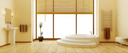 Moderne Interieur des Badezimmers  Standard-Bild