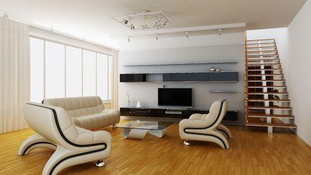 estuche: Interior moderno de una sala