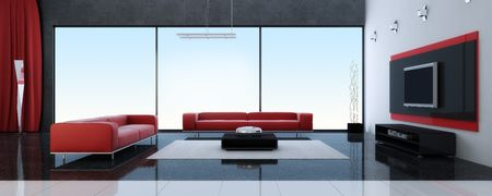 Modern interior of a room Stock Photo