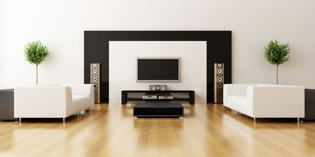 Modern inter of a drawing room Stock Photo - 7756826