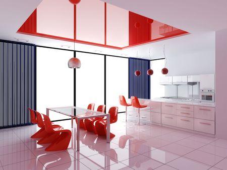 Modern inter of kitchen Stock Photo - 7756807