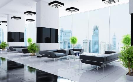 oficina: Interior moderno de una sala