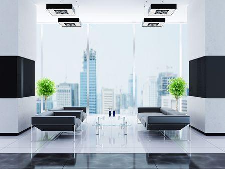 Modern interior of a hall Stock Photo - 7756843
