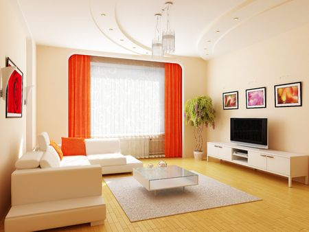 Modern interior of a drawing room Stock Photo - 7756837