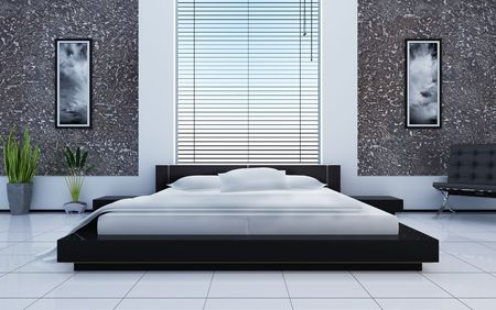 Modern inter of a bedroom Stock Photo - 7756844