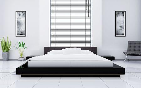 chambre � coucher: Int?rieur moderne d'une chambre