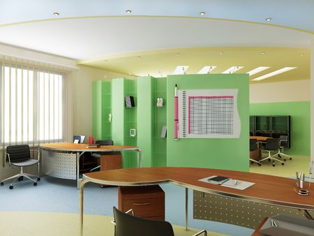 office interior design: Modern interior of office
