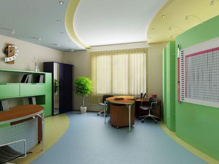 Modern inter of office Stock Photo - 7756840