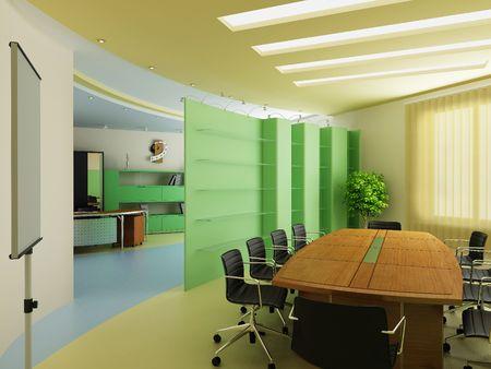 mobiliario de oficina: Interior moderno de Oficina  Foto de archivo