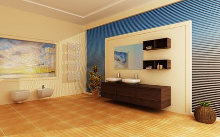 Modern interior of a bathroom Stock Photo - 7756849