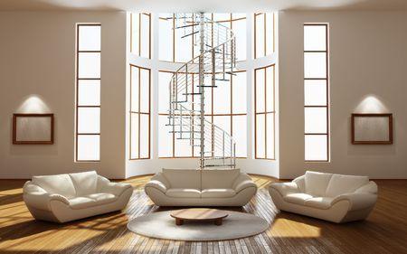 corridoi: Modern interior di una stanza di disegno