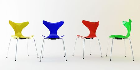 Four chairs photo